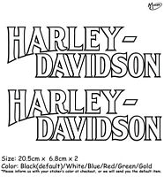 2x Harley Davidson Stickers Reflective Motorcycle Decals 1950outline Best Gifts