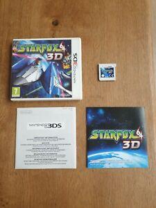 NINTENDO 3DS 2DS - Boite + Notices + Jeu Star Fox 64 3D
