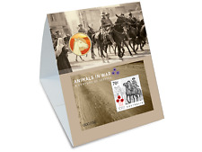 2016 Animals in War stamp imperf minisheet and coin set - Horse Ltd Edt of 150