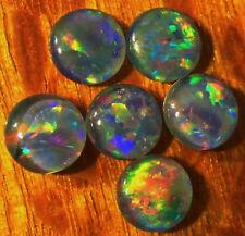 OPAL TRIPLETS  6 pcs. AUSTRALIAN 6 mm 3.6 carats  Callibrated A+ grade