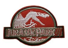 """4"""" Jurassic Park Ranger Movie Cosplay Tactical Embroidered Patch Hook Backing"""