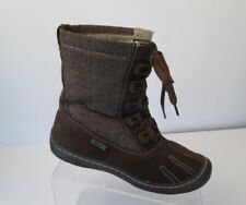 Woolrich Suede Brown Plaid Uppers Lace Up Boots Womens Sz 6.5 Lace Up Waterproof