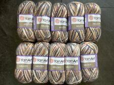 YarnArt Melody knitting /crochet Aran yarn with wool in Browns & White 10 x 100g