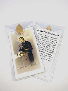 SAINT ST GERARD MAJELLA - PRAYER CARD & MEDAL MOTHERHOOD