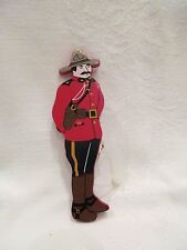 Wood Tree Ornament Canadian Mountie Police Soldier Canada