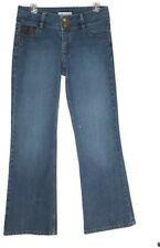 CAbi Jeans Leather Trim Contemporary Fit  Bootcut Style #885 Size 8