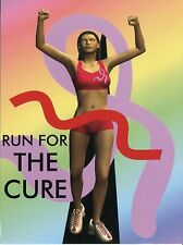 POST CARD OF RUN FOR THE CURE POSTER BREAST CANCER AWARENESS