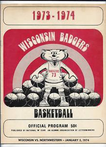January 5 1974 1973-74 WISCONSIN vs NORTHWESTERN College Basketball Program (JS)