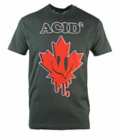 Dsquared2 Cool Fit Acid Maple Leaf Black T-Shirt