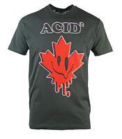 Dsquared2 Cool Fit Acid Maple Leaf Black T-Shirt
