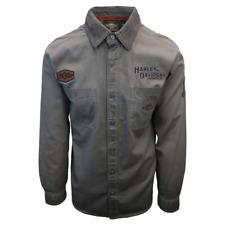 Harley-Davidson Men's Grey Iron Block L/S Woven Shirt (S10)
