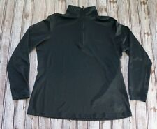 REI Women's Black 1/4 Zip Long Sleeve Athletic Pullover Top Size XL. RN#37249