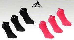 3 Pack Ladies Pink Adidas Lightweight Soft Ankle Socks Size 5.5-8