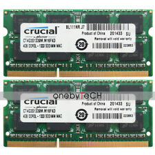 Crucial 8GB (2X4GB) PC3L-10600 DDR3L 1333Mhz 204-pin 1.35v SODIMM Laptop Memory