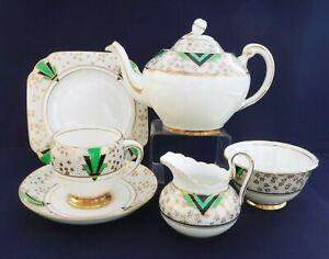 Tuscan Art Deco Tea for One Set