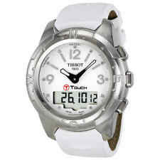 Tissot T-Touch II Multi-Function White Dial Titanium Watch T0472204601600
