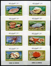 Umm al-qiwain 1972 animales marinos sea life estrella de mar moluscos 682-89 bloque frase mnh