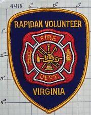 VIRGINIA, RAPIDAN VOL FIRE DEPT PATCH