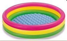 INTEX Sunset Glow Pool Kinderpool Pool Baby Pool in 3 Größen  aufblasbarer Boden