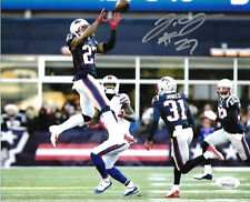 JC Jackson New England Patriots Autographed hand Signed 8x10 photo JSA 2-