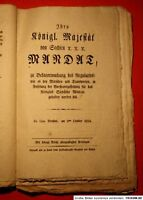 SACHSEN - Ober Amts Patente 1816, kompletter Jahrgang m. 25 Schnörkelbriefen