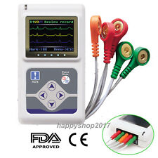 ECG/EKG Holter Recorder Analyzer 24 hours Monitor 3 Channel System US Seller FDA