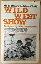 SEWING PATTERN Jean Greenhowe Wild West Show Toys Cowboy Indian Horse 46cm