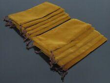 10pcs Brown Flannel Bag Tobacco Smoking Pipe Bag N91