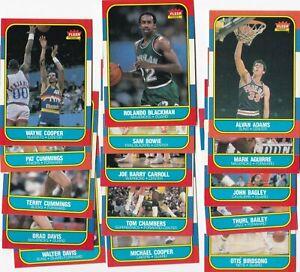 RG: 1986 Fleer Basketball Card Near Set (90/132) w/ HOFers & Rookies - NMt-Mt