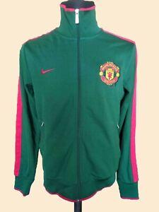 Nike Manchester United Football Training Jacket Red Devils Soccer Zip Track SzM