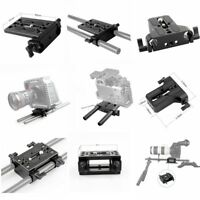 Niceyrig Tripod Mount QR Baseplate with 15mm Rod Clamp Railblock For Support Rig