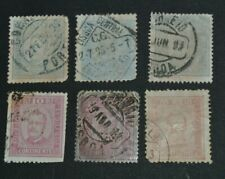 TIMBRES PORTUGAL 1892 1894 KING CARLOS I 6 TIMBRES