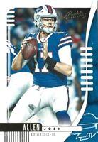 2019 Josh Allen 2nd Season Absolute Football #7 Buffalo Bills 2nd Year Card