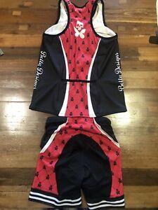 Betty Designs women's signature aero sleeved trisuit - M