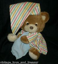 VINTAGE BABY TAN TEDDY BEDDY BYE BEAR PRESTIGE STUFFED ANIMAL PLUSH TOY PAJAMA