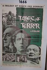 TALES OF TERROR 1sh Original Movie Poster 1962 Peter Lorre, Vincent Price