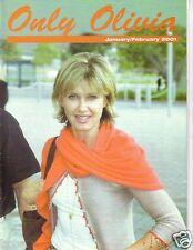 ONLY OLIVIA NEWTON-JOHN JAN/FEB 2001 UK FAN CLUB PACKED NEWS INTERVIEWS,PHOTOS