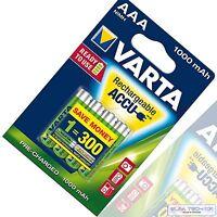 8 Stück VARTA Akku 1000mAh NiMH Accu Micro AAA Ready2Use 1000 mAh Blister 8x