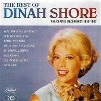 DINAH SHORE The Best Of 2CD BRAND NEW The Capitol Recordings 1959-1962