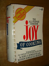 Joy Of Cooking Cookbook by Irma Rombauer & Marion Becker illustrated 1973