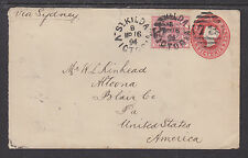 Victoria H&G B7 used. 1894 2p Entire uprated ½p , Vf