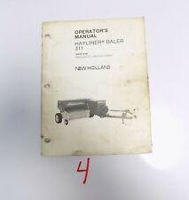 New Holland 311 Baler Operator's Manual   42031114 10/86