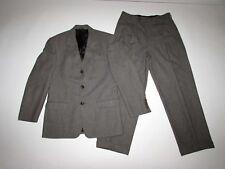 Banana Republic Men's 3 Button Suit Size 38 Short 31 x 28 Gray Pleated Wool 38S