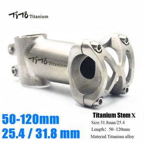 TITO Ultralight Titanium MTB Bicycle Road Bike Handlebar Stem 5° 31.8mm 25.4mm