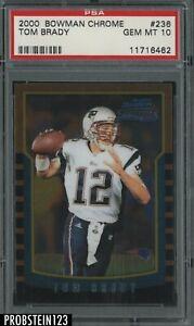 2000 Bowman Chrome #236 Tom Brady RC Rookie Patriots PSA 10