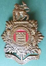 Badge- VINTAGE South African Army ASC ADK Cap Badge, All BRASS
