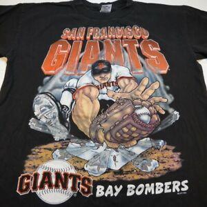 VINTAGE 1994 Salem SAN FRANCISCO SF GIANTS BAY BOMBERS MLB BASEBALL T SHIRT Sz M