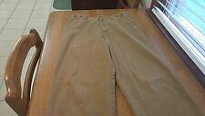Express Authentic Chino Mens Casual Pants Dark Beige 32/30 FREE SHIPPING