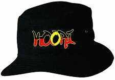 Koori Aboriginal  Flag Hat Black Large/ExLge 59cm Flag Indigenous Bucket Hat