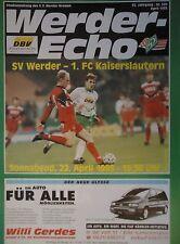 Programm 1994/95 SV Werder Bremen - Kaiserslautern